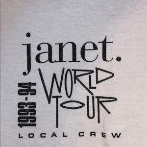 Janet Jackson World Tour Local Crew T Shirt XL